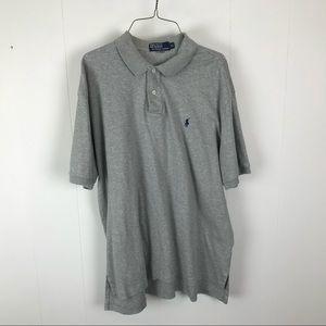 Polo Ralph Lauren mens gray polo shirt XL